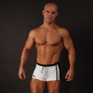 Mens Swim Trunks - Black & White
